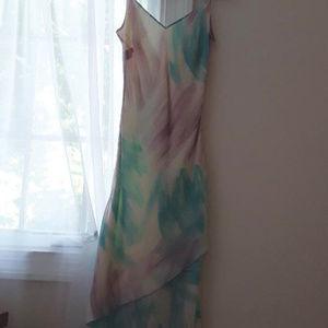 Vintage 90's silk tiered slip dress